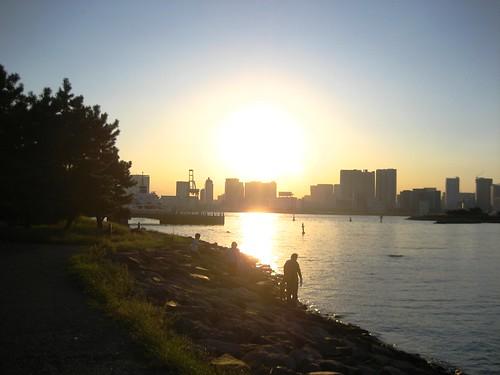 Sunset in Tokyo Bay