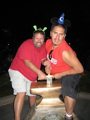 Jason & Jarrod attempt to pull the sword out of the stone. (10/06/07)