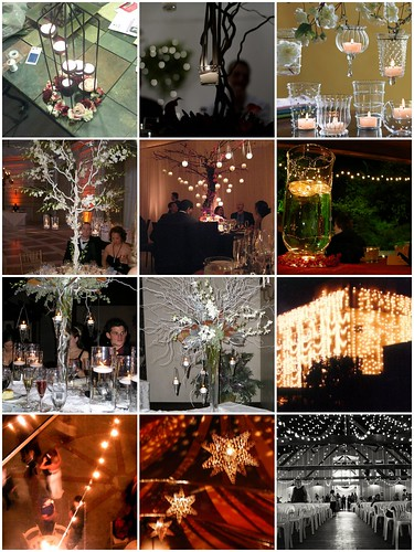 Wedding Lighting Big lights with strands and stars and swags