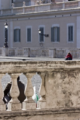 Guardian Angel (Pensiero) Tags: woman man rome roma sitting columns quirinale opticaleffect lilliput canon40d