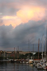 barcelona 001 (tom  c) Tags: barcelona cloud storm water marina boat sailing harbour yacht sai
