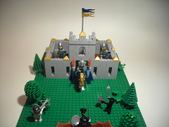 My first Knights Castle (DarthNick(Original)) Tags: castle lego medieval knights middle ages defense defend defending