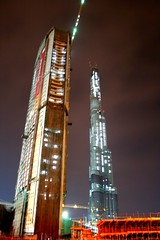 Lit Up (From Afghanistan With Love) Tags: city travel building architecture skyscraper downtown dubai gulf uae east arab tall middle burj zeerak hamesha javaid