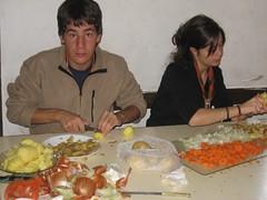 Salida pioneros a Quintanar 07 - Haciendo el pollo