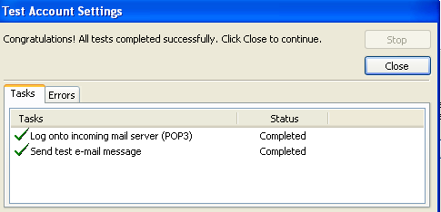 Yahoo! Mail configured for Outlook Express