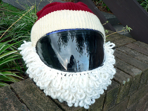 Baby Santa Hat - Free Knitting Pattern for a Baby Santa Hat