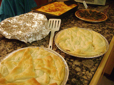 Some of the savory pies