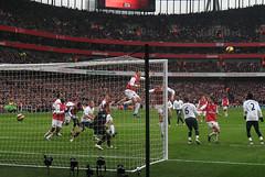 bendtner (timsnell) Tags: photoshop spurs football goal jump head soccer player header match arsenal tottenham emiratesstadium footballer bendtner