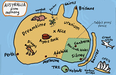 australia map from memory (Nad) Tags: bridge dog rabbit plane fence shark opera map drawing alice sydney australia melbourne brisbane doctor perth memory nsw uranium tasmania canberra cairns hobart wombat dingo ayersrock barrierreef dreamtime