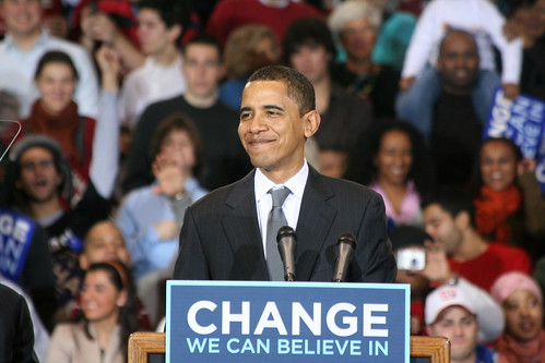 Barack Obama yesterday
