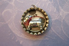 Monopoly Dog Bottlecap (HA! Designs - Artbyheather) Tags: dog fun funky charm monopoly resin bottlecap hadesigns artbyheather