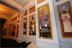 the interior of the Slave Theater