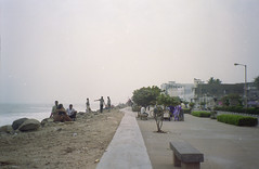 pondi beach again (Jennifer Kumar) Tags: beach negativescan tamilnadu pondicherry india1998 puducherry