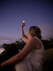 Pick the Moon Out of the Sky (Erik K Veland) Tags: sunset moon mountain holiday rainforest getaway australia hike francesca explore queensland  mttamborine pickthemoonoutofthesky