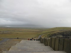 Looking down the way we just came (debstromquist) Tags: ireland cliffsofmoher stonesteps coclare liscannor liscannorbay