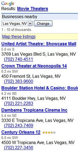 LV theaters
