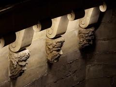 Faces under bridge (cheesemonster) Tags: bridge light paris france seine frankreich ledefrance faces under heads lit frankrijk underneath francia rp carvings underthebridge  busts   rgionparisienne parisregion