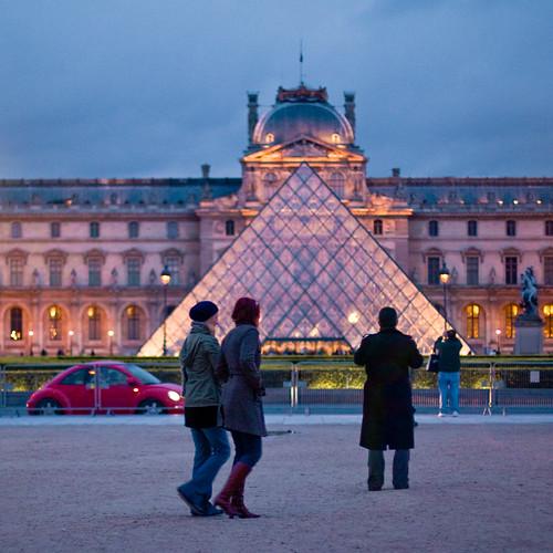 Louvre evening
