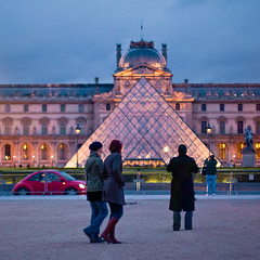 Louvre evening