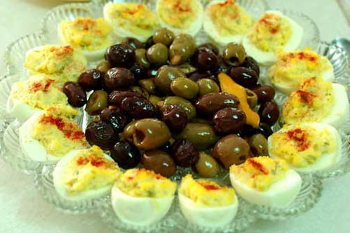 Olives and Stuffed Eggs
