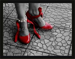 Self: My Red Shoes Part 2 (CharleneCollins.JamaicaImages) Tags: me gimp explore kingston jamaica cinderella redshoes anklet selectivecolor wedges backpatio texturedconcrete ihatehighheels sundayactivities learntocolourinthelines highinstep jamaicasnexttopmodel meandmyankletneverpart charlenecollinsjamaicagmailcom charlenecollins