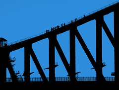 Bridge Climb (... Arjun) Tags: bridge blue sky 15fav black color colour tourism scale topf25 silhouette architecture 1025fav 510fav climb nikon steel sydney engineering overpass australia 100v10f hike tourists viaduct diagonal mount 2550fav join nsw link newsouthwales coathanger rocket d200 rise passage toned 2008 suspensionbridge increase tinted channel connection conduit sydneyharbour soar association scramble ascent stairwaytoheaven sydneyharbourbridge ascend australasia bridgeclimb goup 200mm bennelongpoint railwaysbridge supershot clamber thecoathanger marchingants 18200mmf3556g bluelist harbourbridgeclimb sydneyharbourbridgeclimb colorphotoaward sydneycentralbusinessdistrict 335108s1511238e thewidestlongspanbridgeintheworld thelargeststeelarchbridge daysclimb theclimbofyourlife