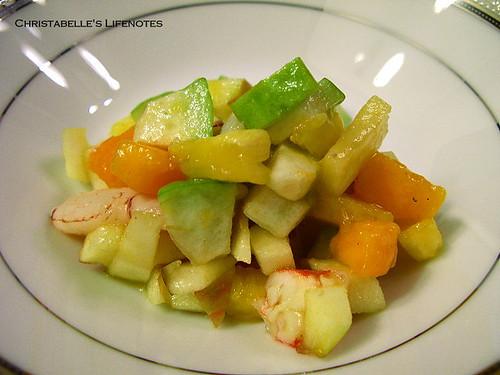 母親節大餐之水果鮮蝦沙拉