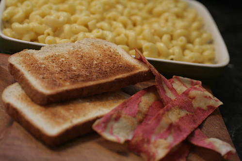 Toast and bacon