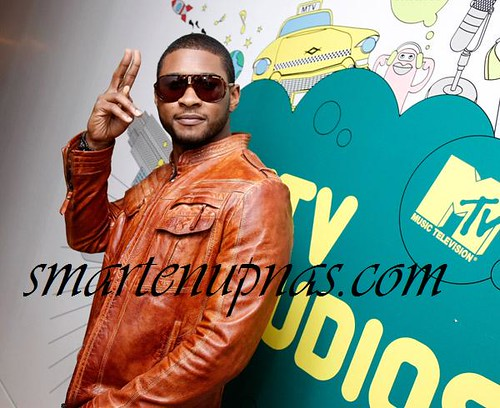 usher on mtv trl standing up for his wife