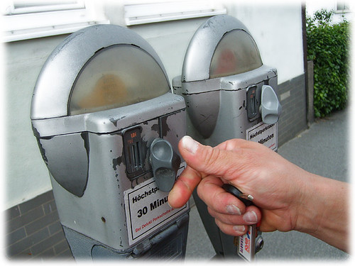 parking meter in Passau (Germany, Bavaria)