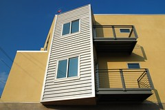 Finishing Touch (MilkaWay) Tags: windows light architecture modern georgia shadows athens balconies urbandevelopment redevelopment clarkecounty baxterstreet ugaflag baxterstreetlofts