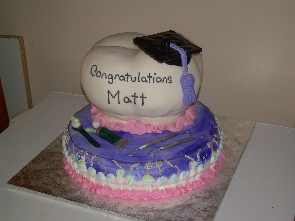 Dental School Graduation Cake Blackmarketcakes Tags Cakes Tooth Teeth