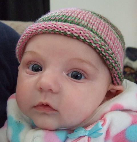 Alice in her baby hat