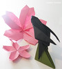 Origami Swallow And Sakuras