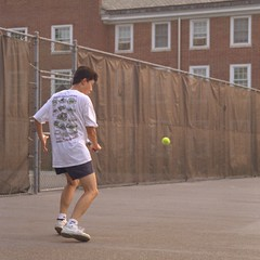 Joe plays tennis