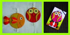 marcadores de pgina (Ana Evangelina1) Tags: feltro reciclagem marcadoresdecd