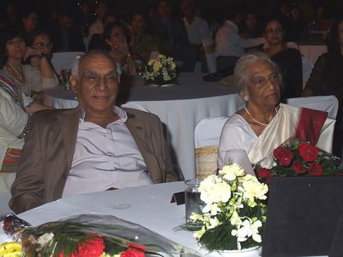 Yash Chopra with Mrs Subhadra Parigi