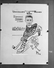 Vancouver (Millionaires) Hockey Team, Vancouver Hockey Club [copy of photo/caricature of F.