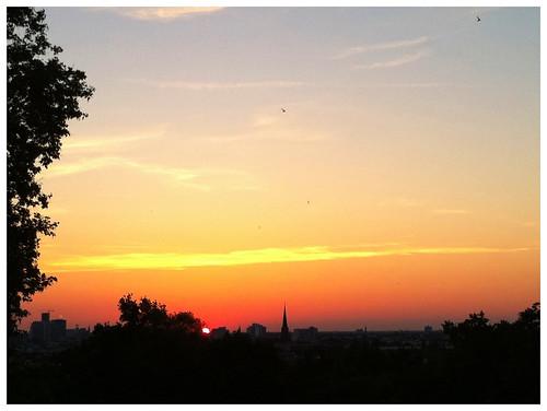 Viktoriapark, Sonnenuntergang 3
