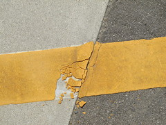 you're cracking me up (Samm Bennett) Tags: japan pavement ground toyama lookingdown asphalt