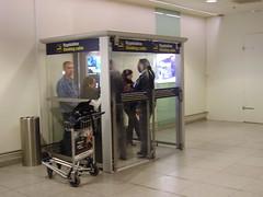 Sala de fumadores del aeropuerto de Copenhague