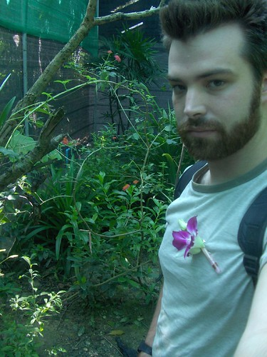 Taylor at a Thai Orchid Farm