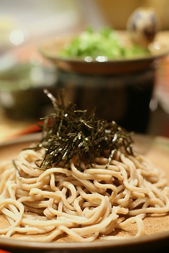 cold soba with dried nori