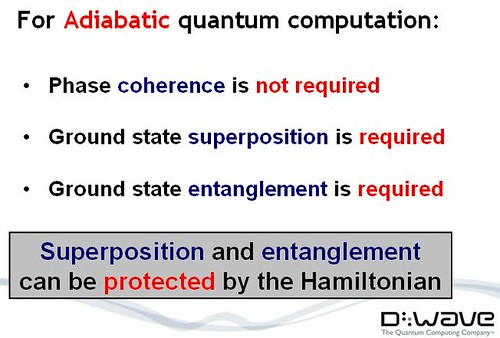 adiabatic quantum computer required conditions