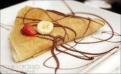 Celeste Crepe @ I Feel Like Crepe (tanjatiziana) Tags: food toronto restaurant cafe chocolate strawberries banana crepe nutella collegest ifeellikecrepe