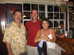 With John and Janis at the Castaway Waterfront Restaurant and Sushi Bar in Marathon, Florida, USA