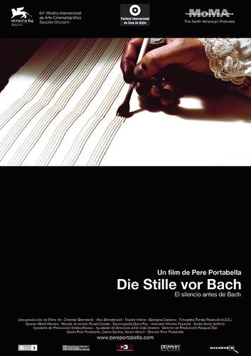 Cartel el silencio antes de Bach Poster