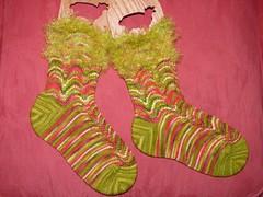 Grinchy socks
