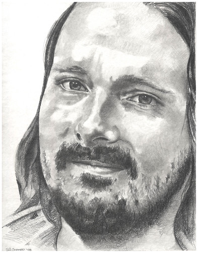 Graphite portrait entitled KSmith