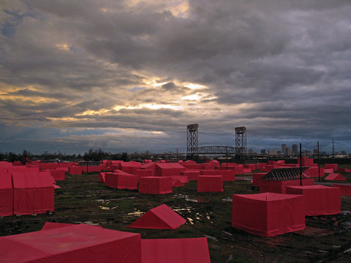The  Pink Project at dusk